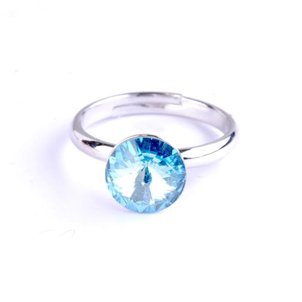 Dětský prsten Swarovski® crystals Rivoli - modrý