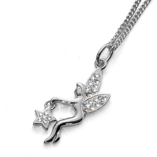 Stříbrný náhrdelník s krystaly Swarovski Oliver Weber 7308 - kouzelná víla