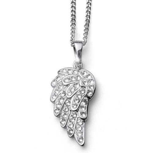 Stříbrný náhrdelník s krystaly Swarovski Oliver Weber 61102 - andělská křídla