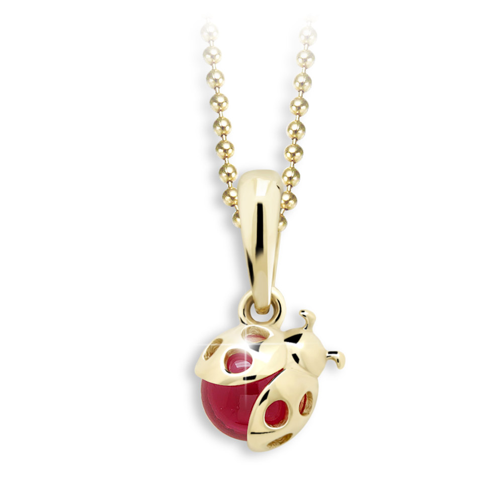 Cutie Jewellery Dětský přívěsek se zirkony C2008-40Z - beruška