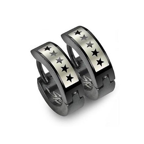 Ocelové kroužky s hvězdami