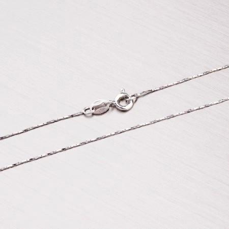 Jemný stříbrný dětský řetízek 40 cm