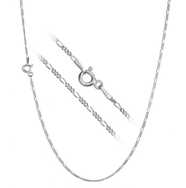 Stříbrný řetízek figaro 45 cm