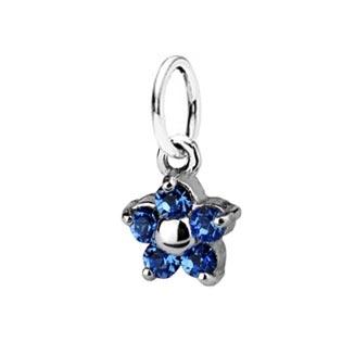 Dětský stříbrný přívěsek Swarovski® elements - modrá kytička