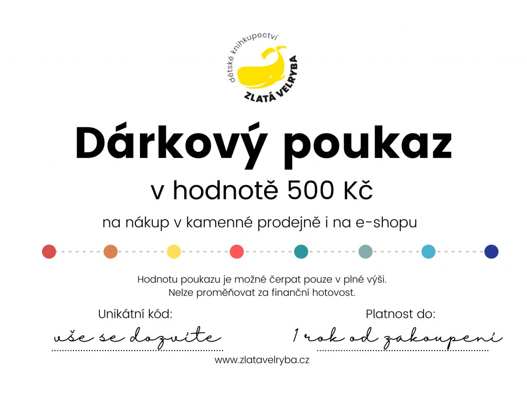 Dárkový poukaz 500 korun, www.zlatavelryba.cz