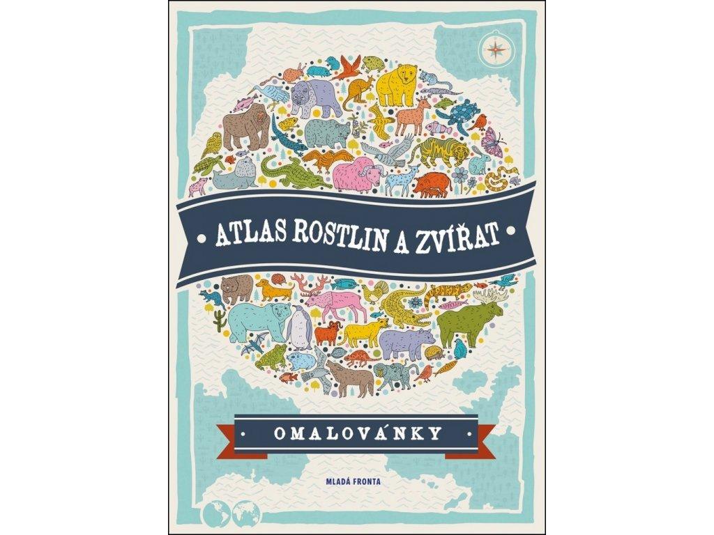 ATLAS ROSTLIN A ZVÍŘAT, OMALOVÁNKY, zlatavelryba.cz