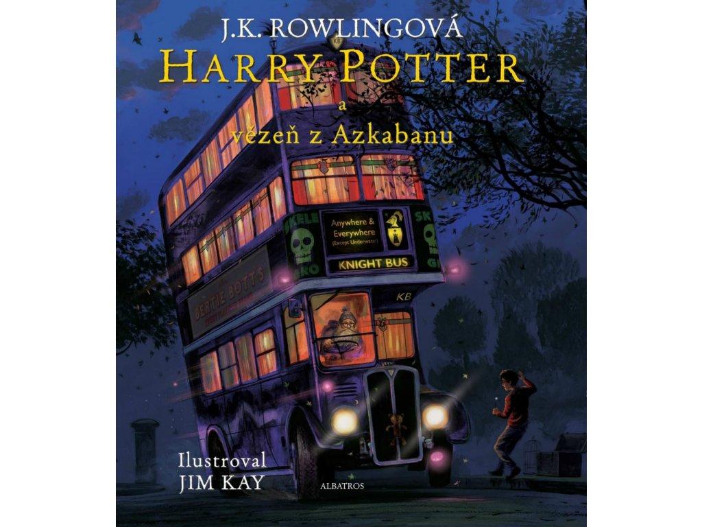 Harry Potter a vězeň z Azkabanu ilustrované vydání, J. K. Rowling, zlatavelryba.cz, 1