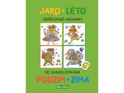 Jaro, Léto, Podzim, Zima Kniha samolepek a hádanek, Helena Zmatlíková, zlatavelryba.cz