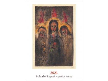BOHUSLAV REYNEK GRAFIKY, KRESBY NÁSTĚNNÝ KALENDÁŘ 2021, zlatavelryba.cz (1)