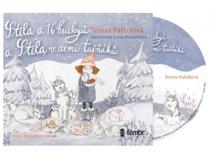 Audiokniha Stela a 16 huskyů + Stela v zemi tučňáků, Tereza Pařízková, www.zlatavelryba.cz