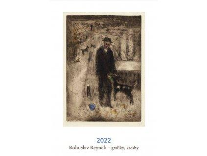 BOHUSLAV REYNEK GRAFIKY, KRESBY NÁSTĚNNÝ KALENDÁŘ 2022, zlatavelryba.cz (1)