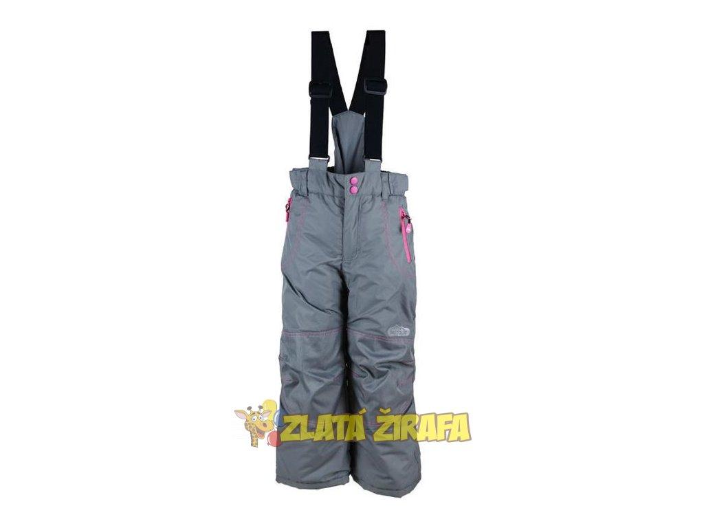 Kalhoty lyžařské zimní šedo-růžové