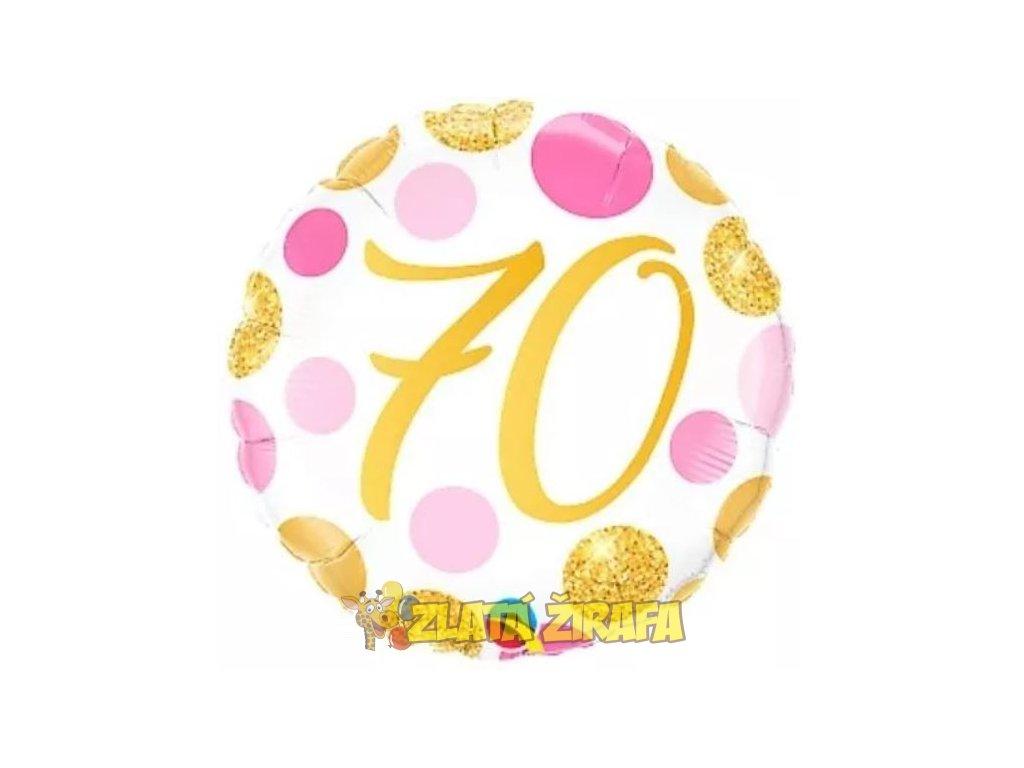Kulatý balónek 46cm - zlatá 70