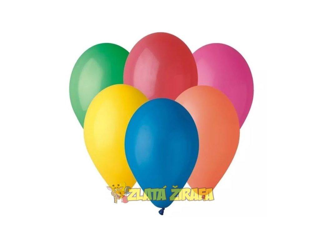 Kulatý nafukovací balónek mix barev 30 cm/10Ks