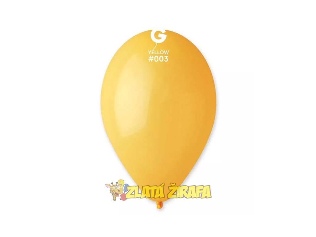 Kulatý nafukovací balónek žlutá #003 30 cm/10Ks