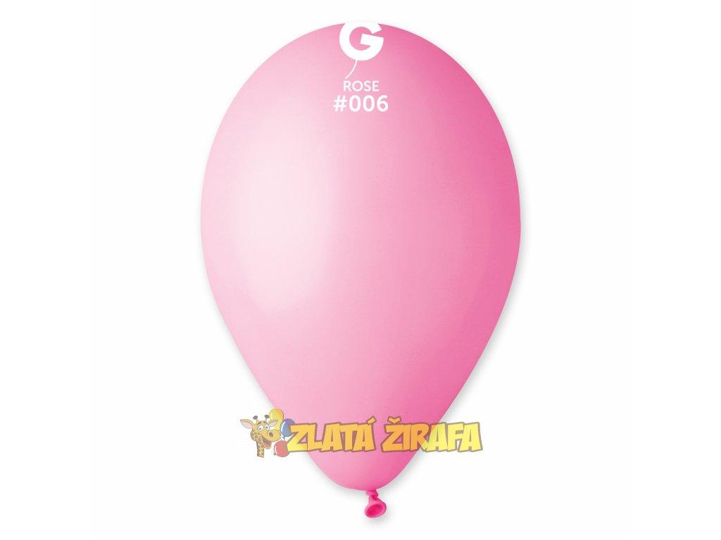 Kulatý nafukovací balónek #006 světle růžová 30 cm/10Ks
