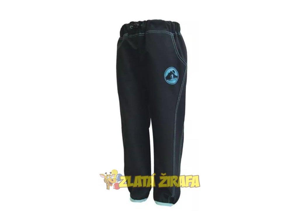 Jaro/podzim softshellové kalhoty ČERNÁ - TYRKYS 152