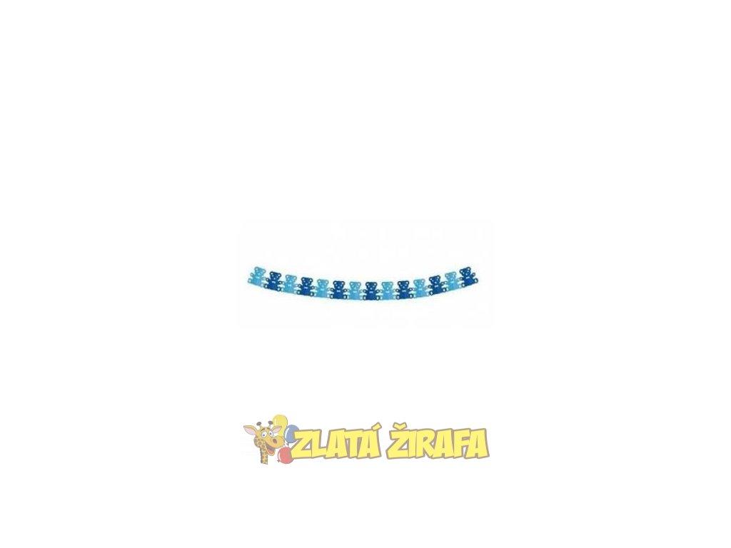 Girlanda papírová - modrý medvídek