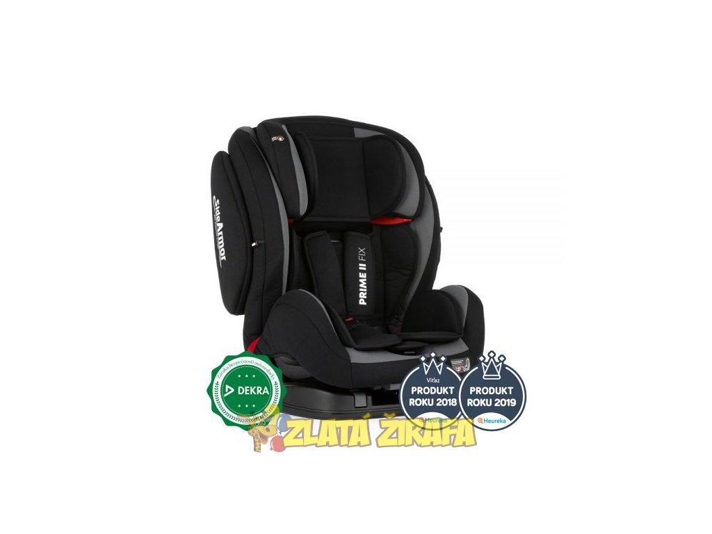 Autosedačka Prime II Isofix Black 9-36 kg Petite&Mars