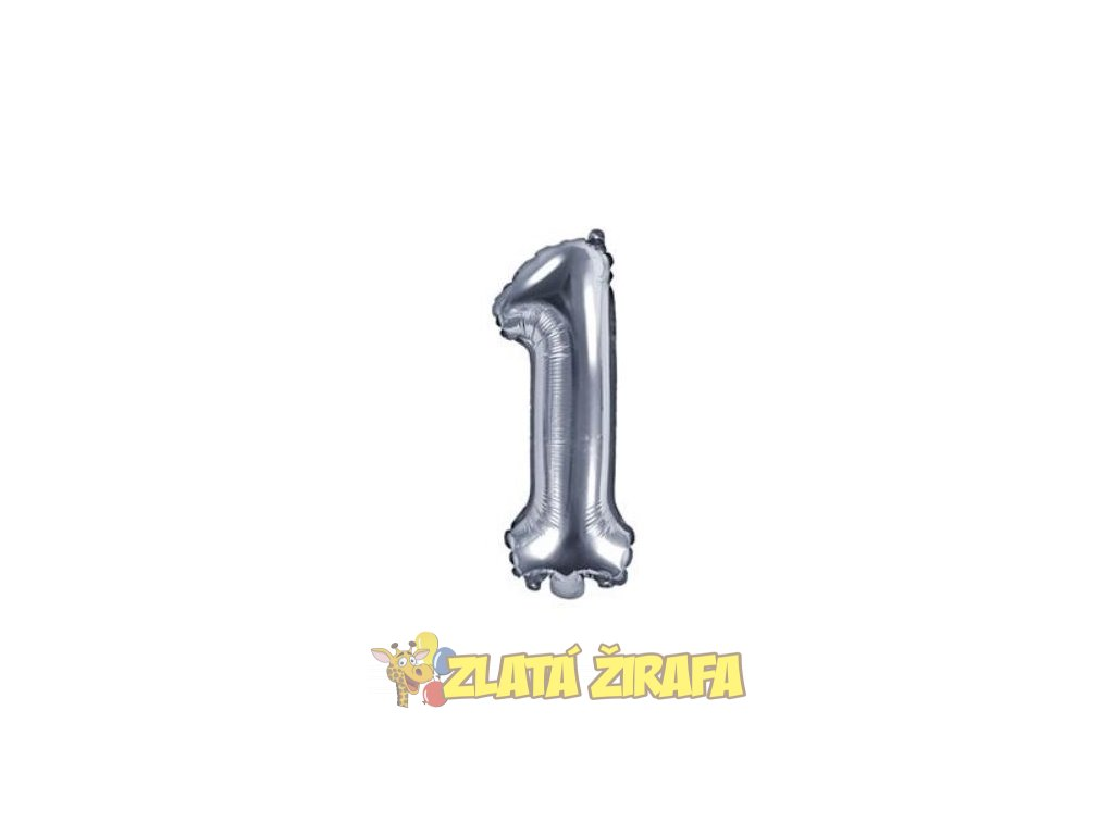 35cm balónek 1 - stříbrná
