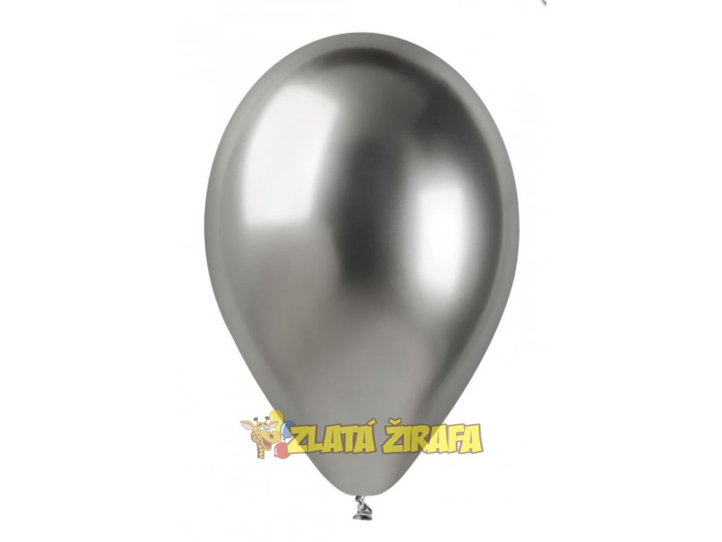 Chromový balónek #039 stříbrný 33 cm/10 ks