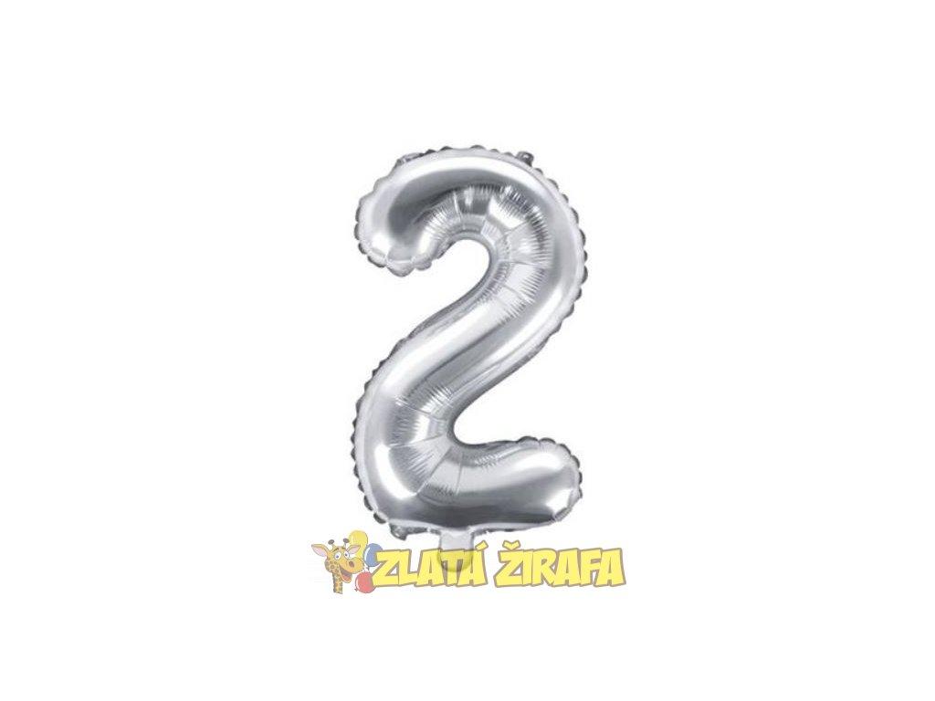 35cm balónek 2 - stříbrná