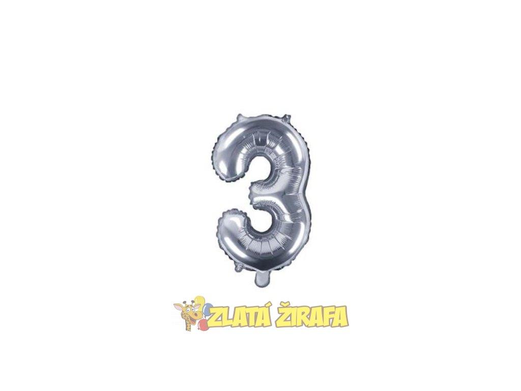 35cm balónek 3 - stříbrná