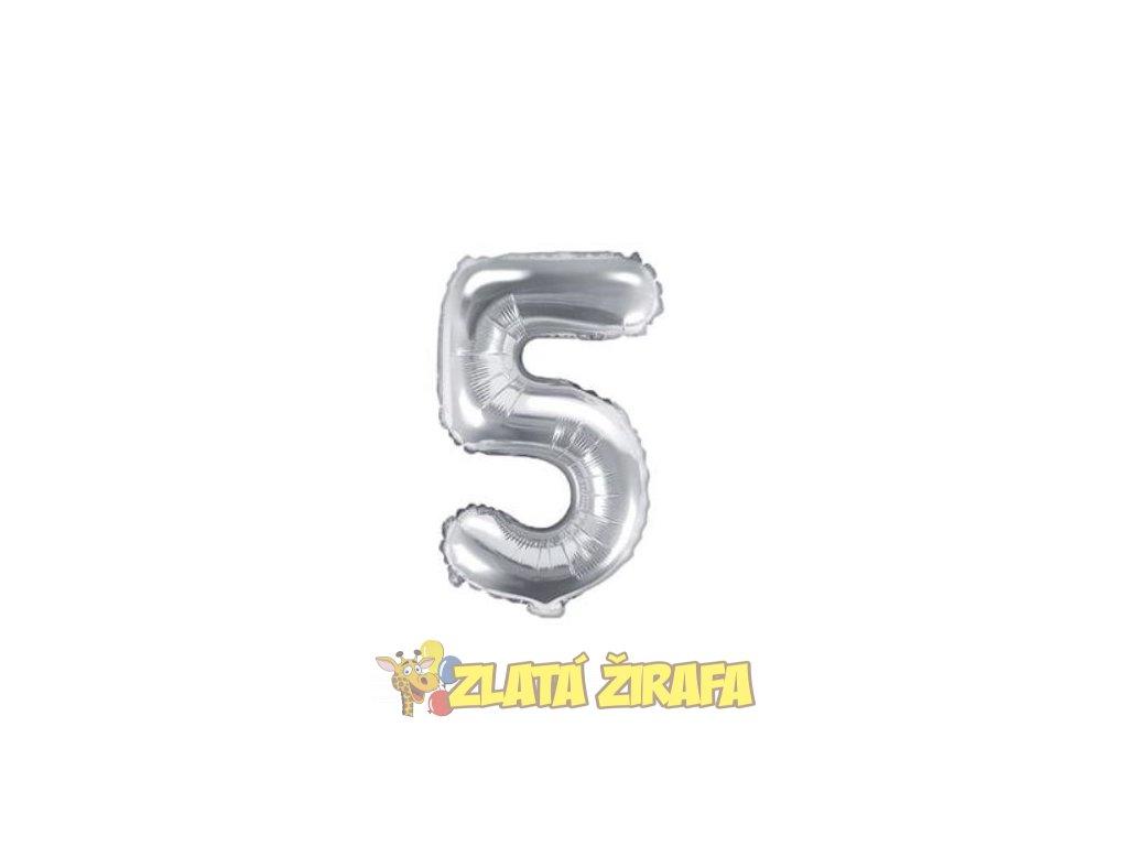 35cm balónek 5 - stříbrná
