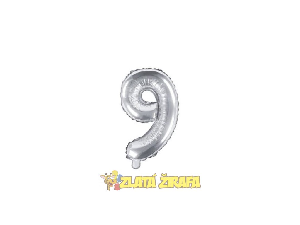 35cm balónek 9 - stříbrná