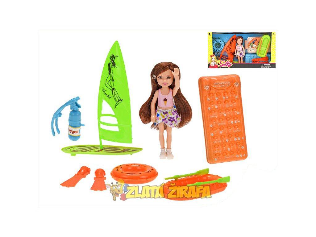 Panenka s doplňky na pláž