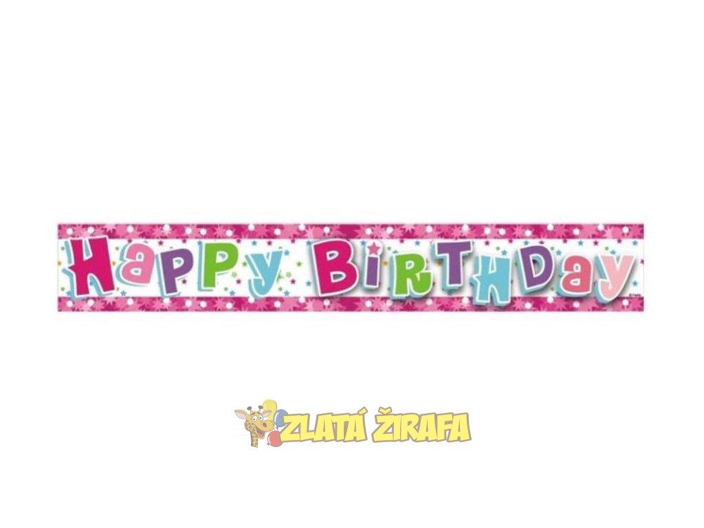happy birthday růžová