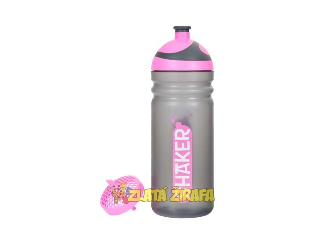 Zdravá lahev SHAKER růžový 0,7l