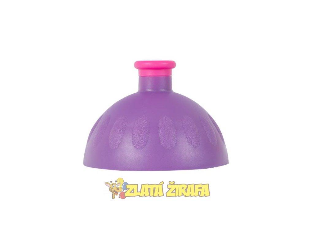 Víčko pro Zdravou Lahev fialové/zátka fialová fluo