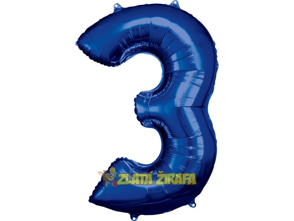86 cm balónek číslice 3