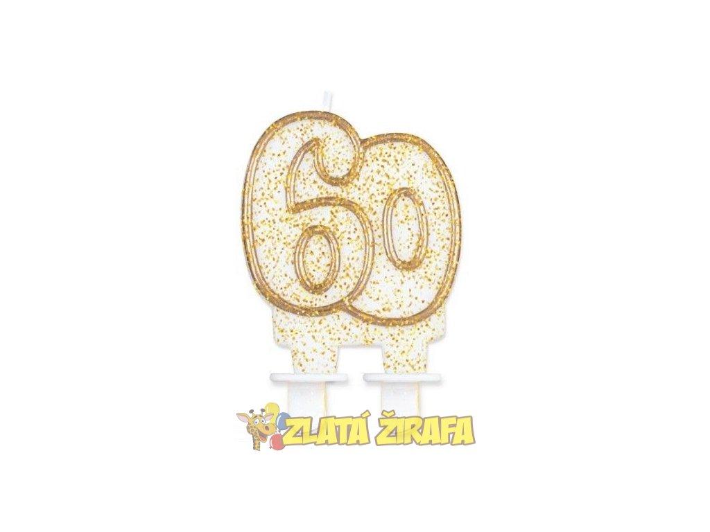 svíčka60 zlatá