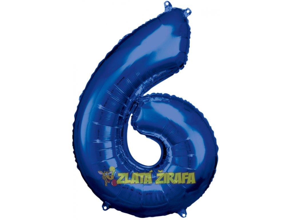 86 cm balónek číslice 6