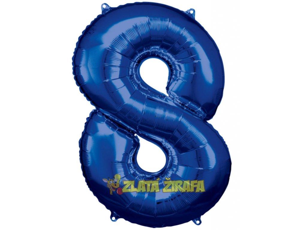cislice 8 modra