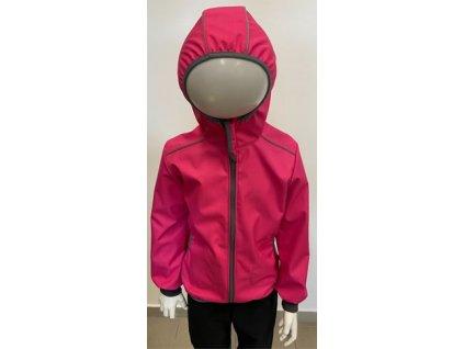 Softshellová bunda s bambusovou vložkou - růžová