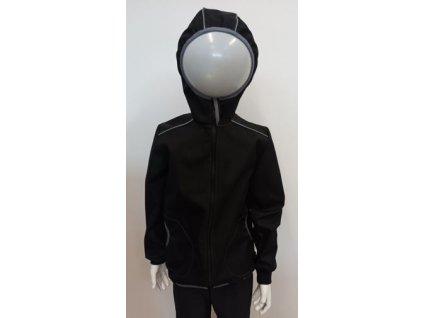 Softshellová bunda s bambusovou vložkou - černá