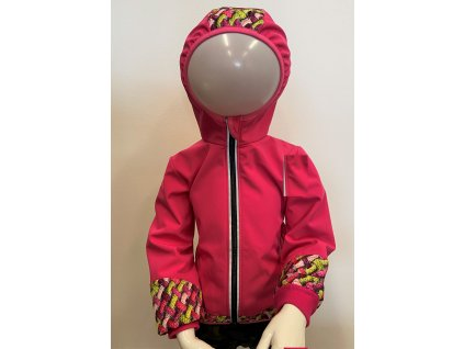 Dívčí softshellová bunda - růžová