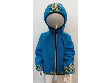 Klučičí softshellová bunda - modrá