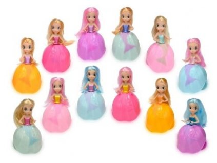 Mořská panna Oceana girls 8cm měnící  barvu - oranžová