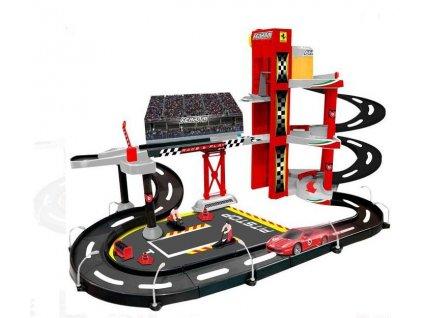Bburago PLAY 1:43 Ferrari Race & Play garáž s jedním autíčkem