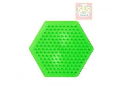 SES CREATIVE Podložka samostatná šestiúhelník pro zažehlovací korálky plast