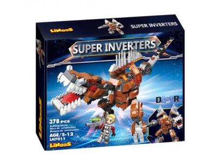 LiNooS stavebnice 378ks robot/dinosaurus s postavičkou v krabičce