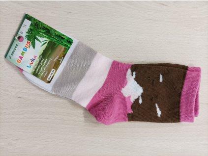 Ponožky dívčí růžové
