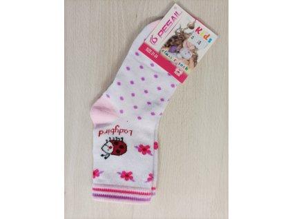 Ponožky dívčí s beruškou