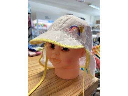 Dětská čepice na plavání žlutá