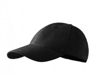 Bavlněná kšiltovka UNI černá