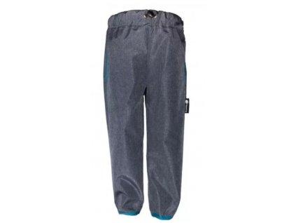Jaro/podzim softshellové kalhoty ŠEDÁ - MODRÁ